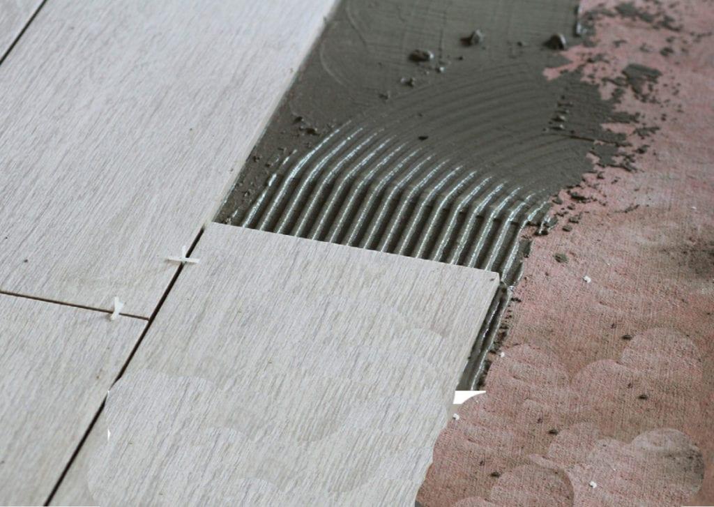 setting materials ceramic tiles