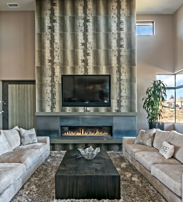 modern fireplace in northern nevada