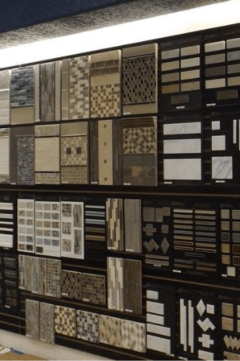 close up of tile options at ceramic tile center in nevada