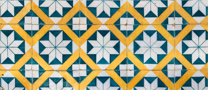 ornate ceramic tiles mosaic