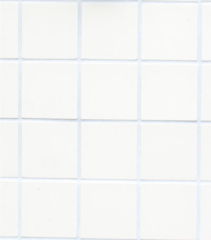 clean square white tiles