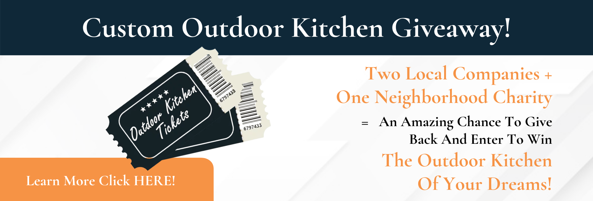 Custom Outdoor Kitchen Giveaway!