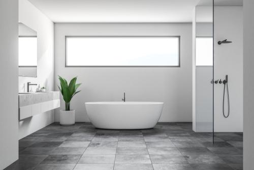 Floor tiles in beautiful bathroom